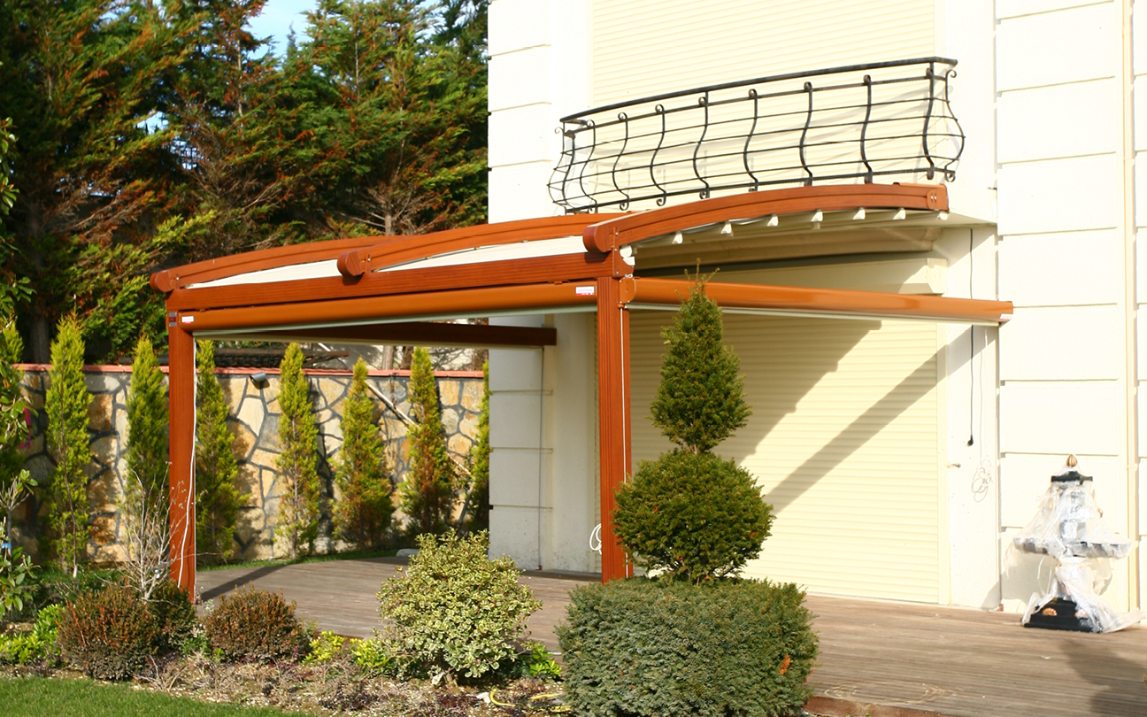Semi Curve Retractable Roof System