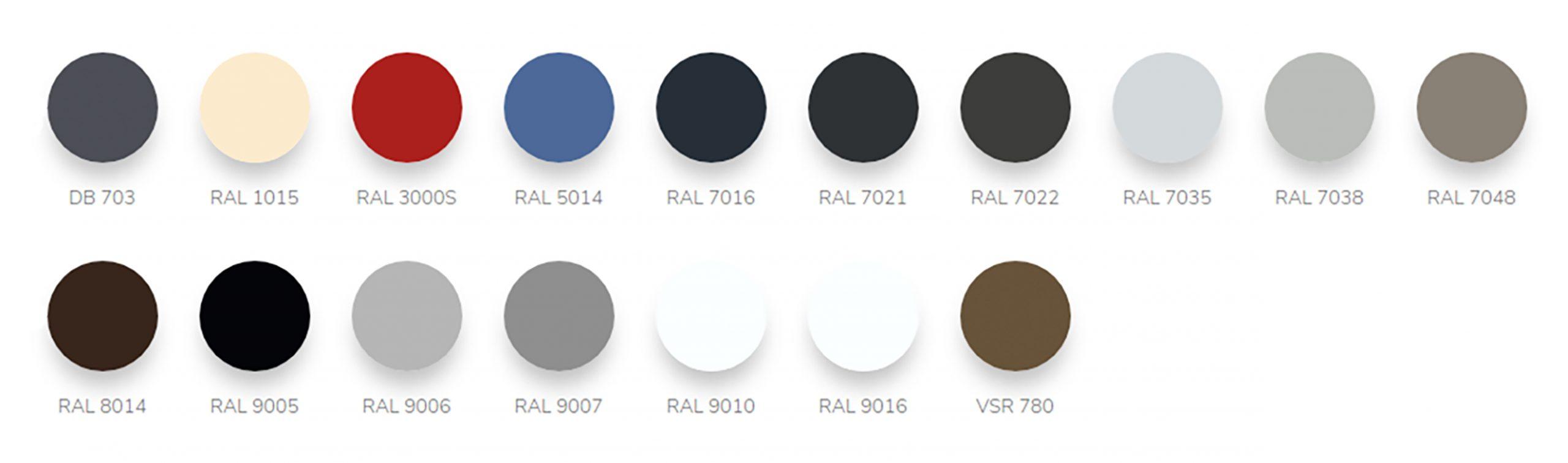 External Venetian Blinds - Available Colours